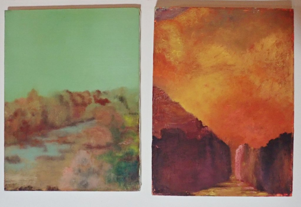 Mix of Abstract Landscape Paintings, Artist Signed - 3