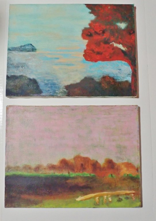 Mix of Abstract Landscape Paintings, Artist Signed - 4
