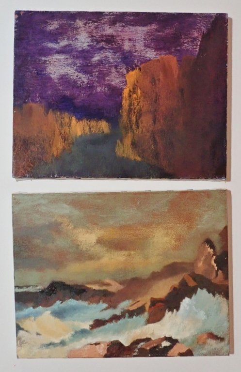 Mix of Abstract Landscape Paintings, Artist Signed - 6