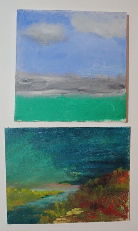 Mix of Abstract Landscape Paintings, Artist Signed - 7