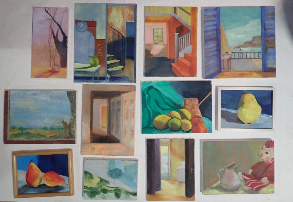 Group Interior/ Still Life Paintings Artist Signed - 10