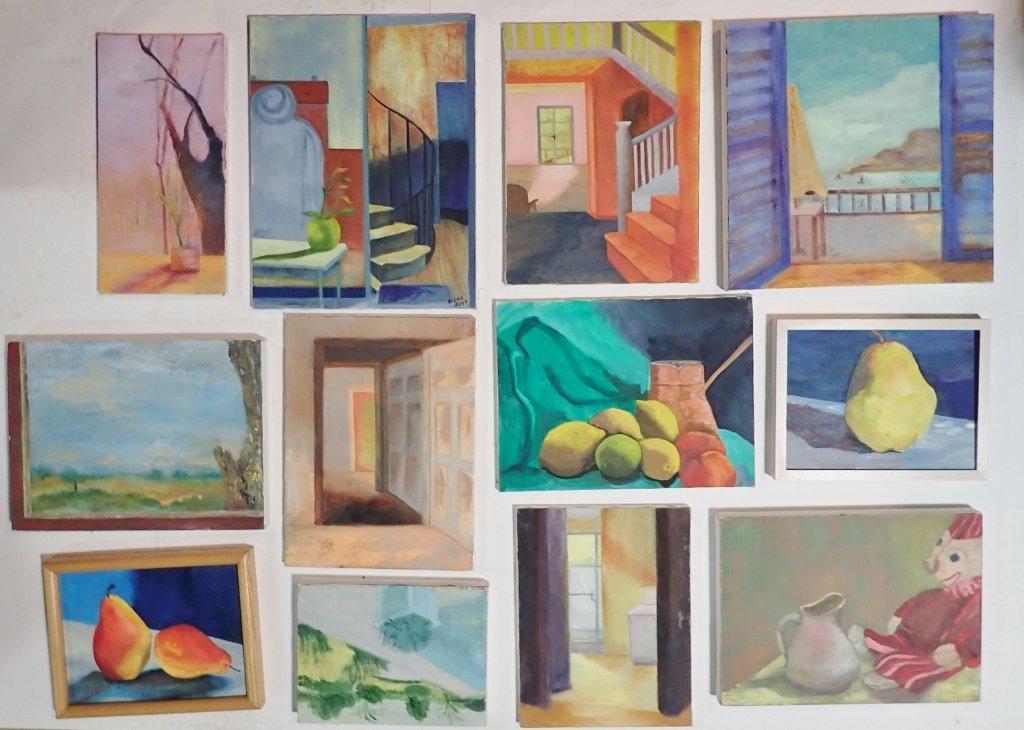 Group Interior/ Still Life Paintings Artist Signed