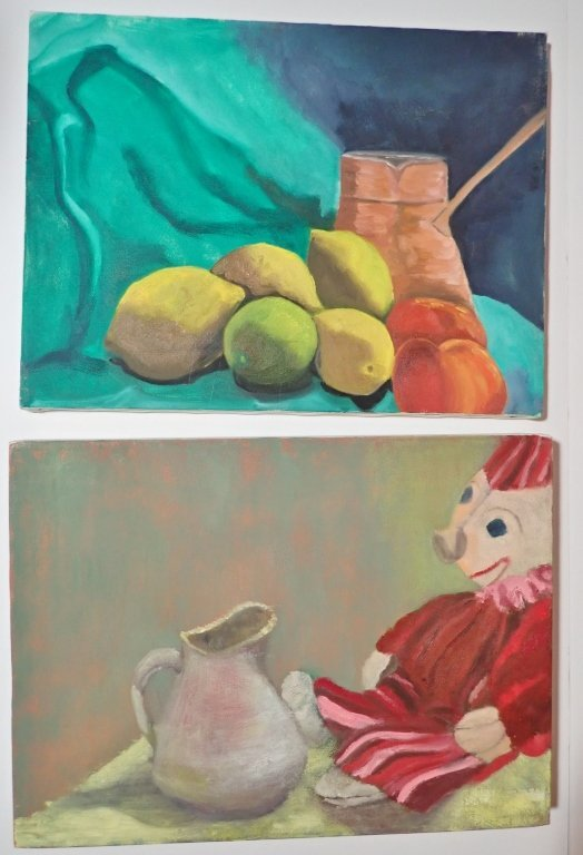 Group Interior/ Still Life Paintings Artist Signed - 2