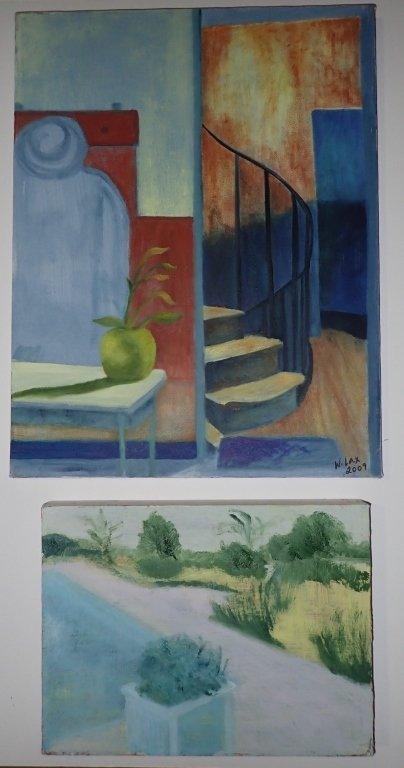 Group Interior/ Still Life Paintings Artist Signed - 4
