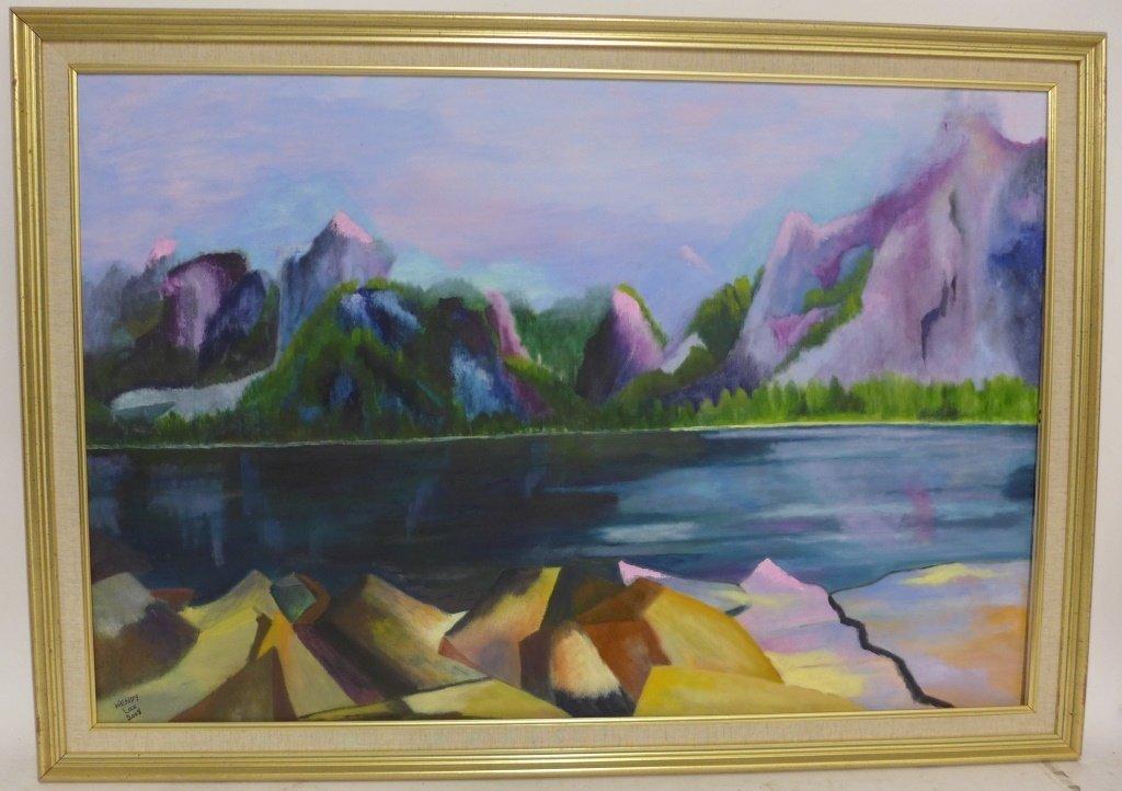 Mountain Scene Paintings, Artist Signed - 2
