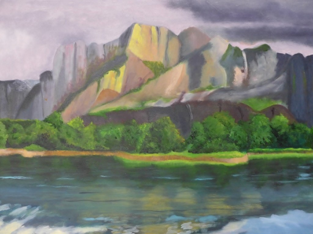 Mountain Scene Paintings, Artist Signed - 3