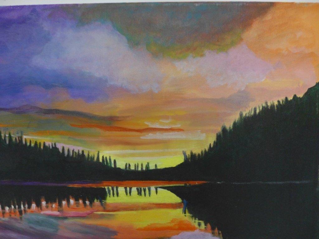 Mountain Scene Paintings, Artist Signed - 4
