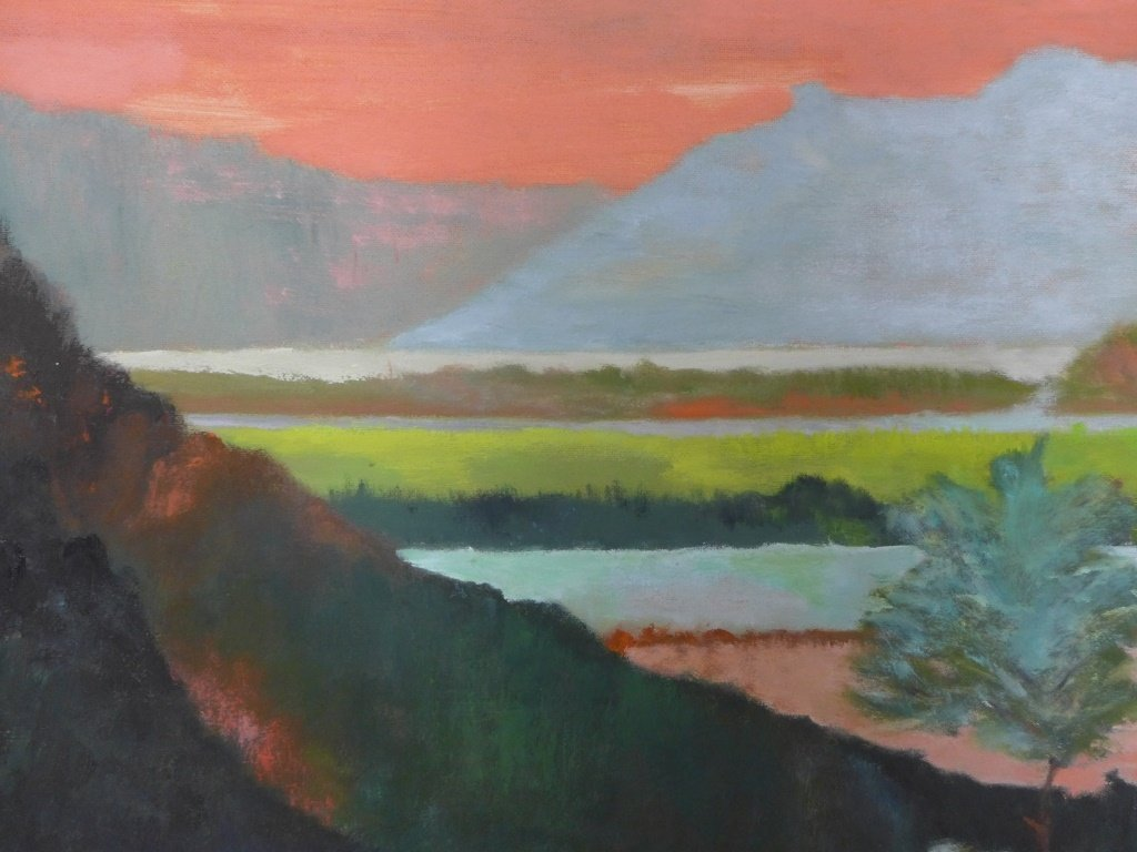 Mountain Scene Paintings, Artist Signed - 5