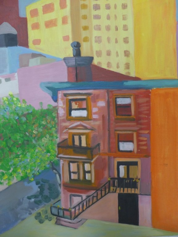 City Scene Paintings, Artist Signed - 7