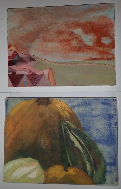 Grouping of Unframed Paintings - 7