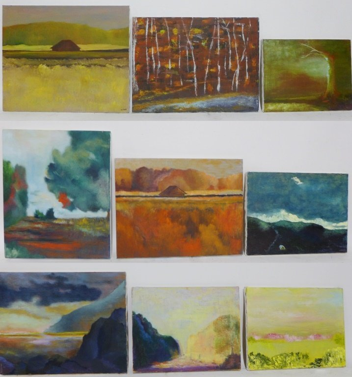 Assorted  Landscape Paintings,  Artist Signed