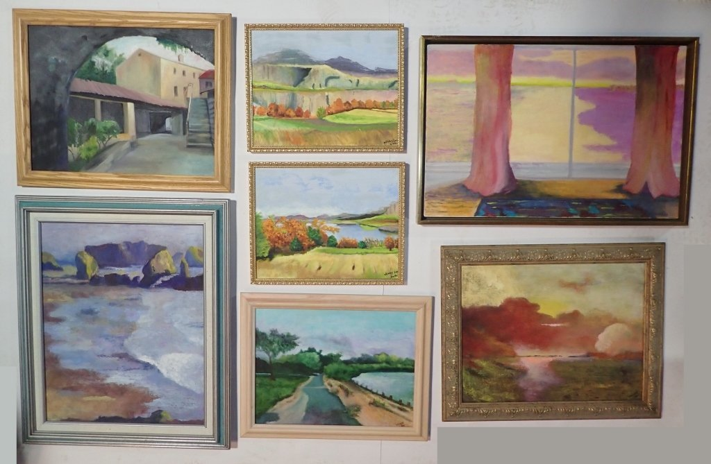 Framed Landscape Painting Collection, Signed