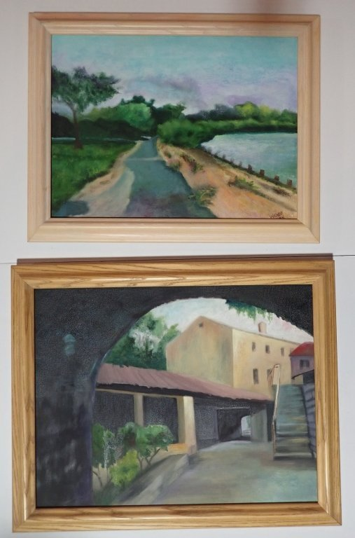 Framed Landscape Painting Collection, Signed - 5