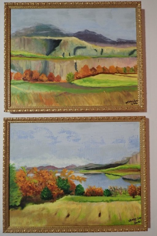 Framed Landscape Painting Collection, Signed - 6