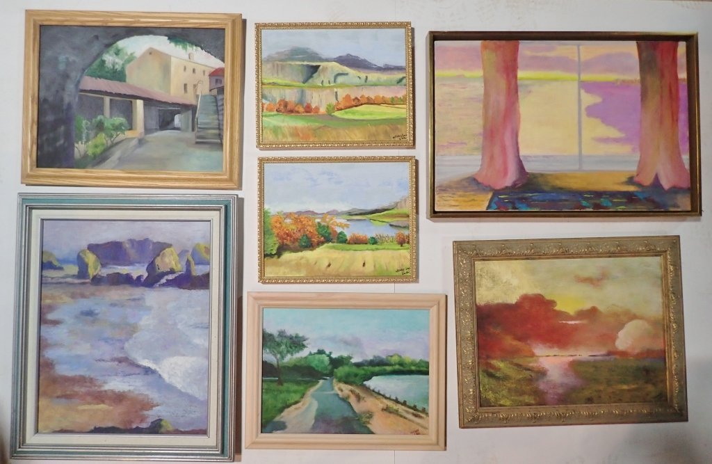 Framed Landscape Painting Collection, Signed - 8