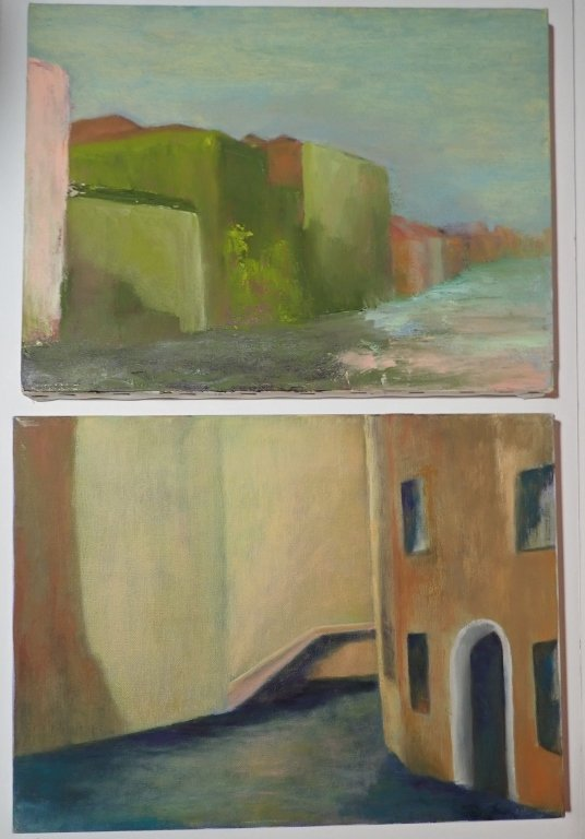 Artist Signed Collection of Unframed Paintings - 4