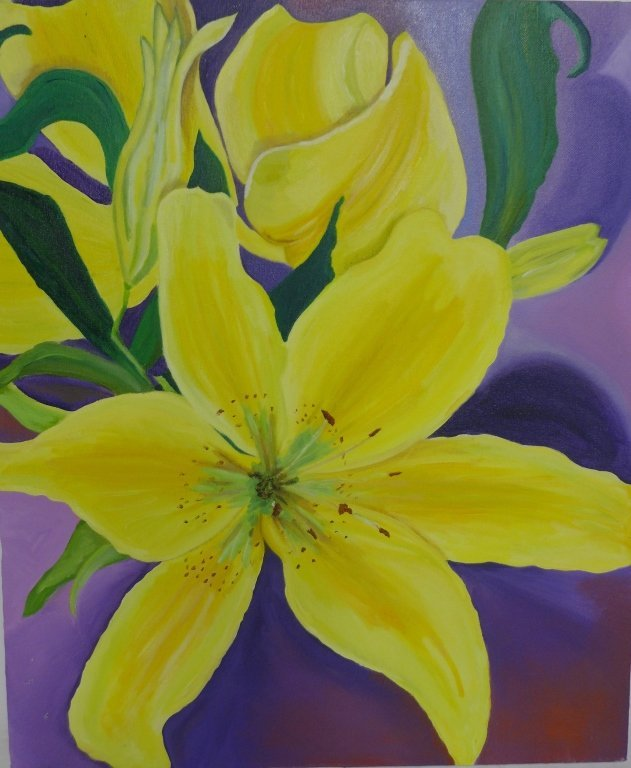 Selection of Flower Paintings, Artist Signed - 2