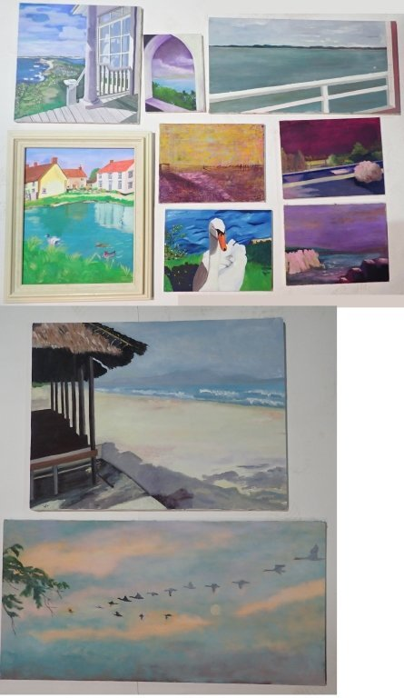 Assortment of Paintings, Artist Signed
