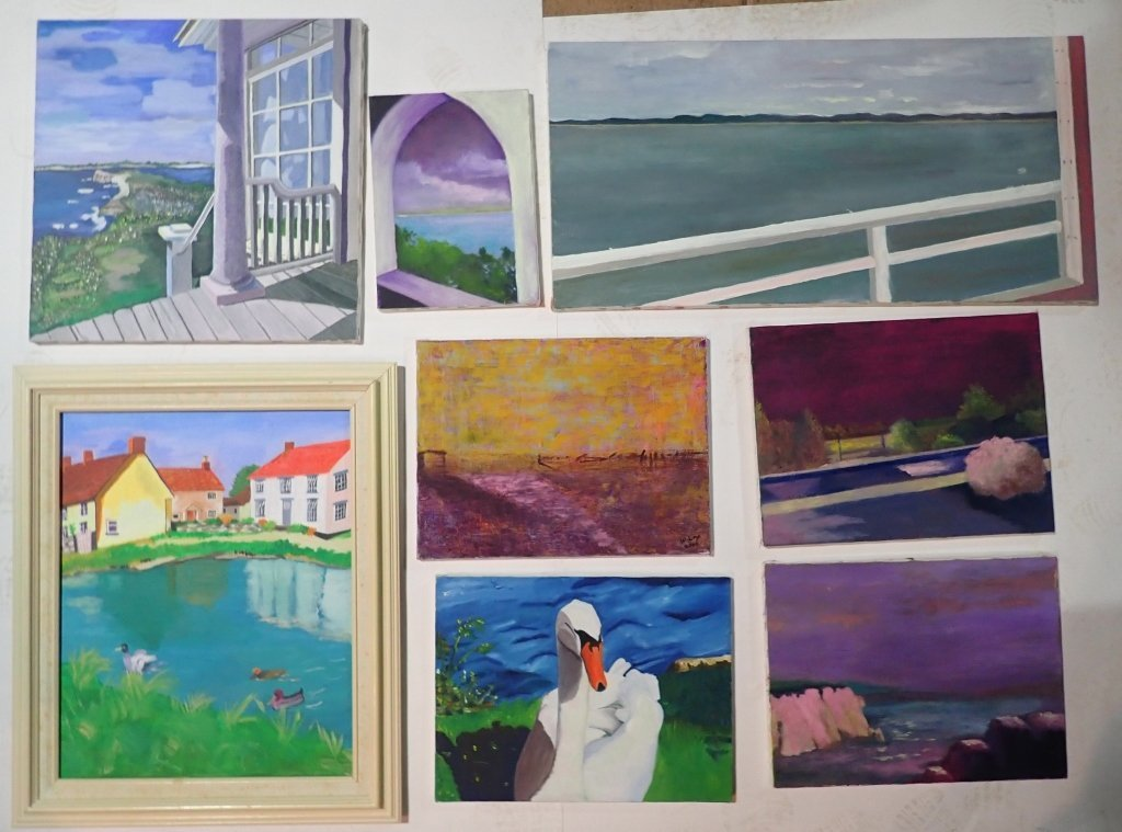Assortment of Paintings, Artist Signed - 2