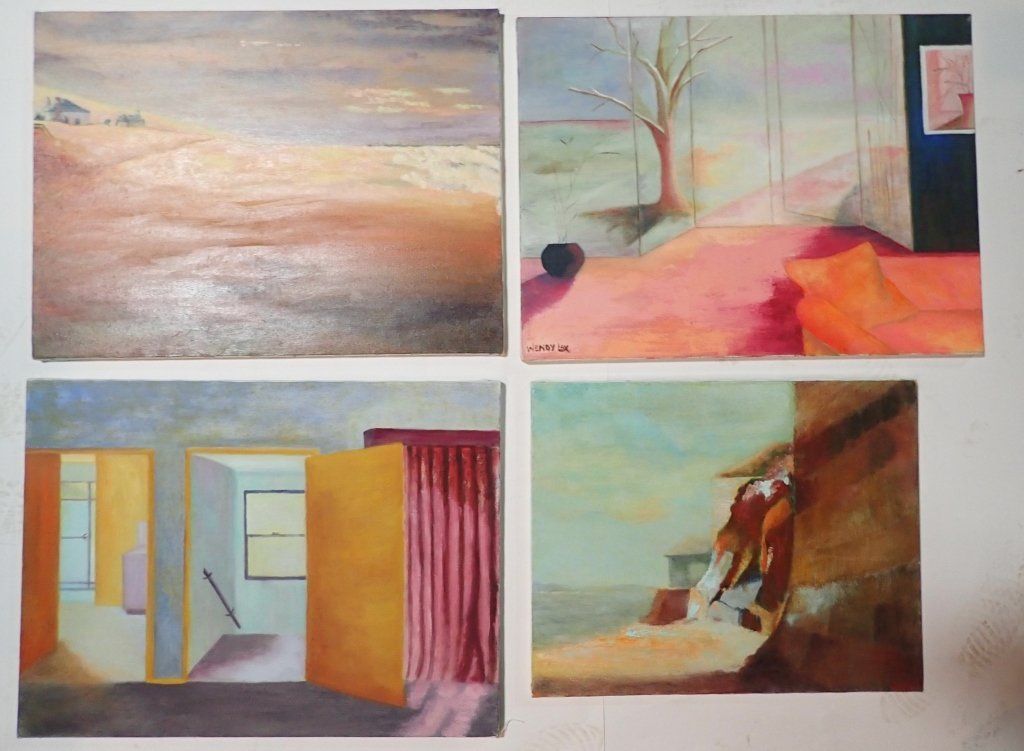 Grouping of Artist Signed Unframed Paintings - 2