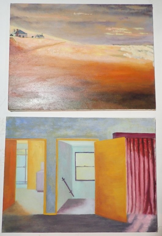 Grouping of Artist Signed Unframed Paintings - 4