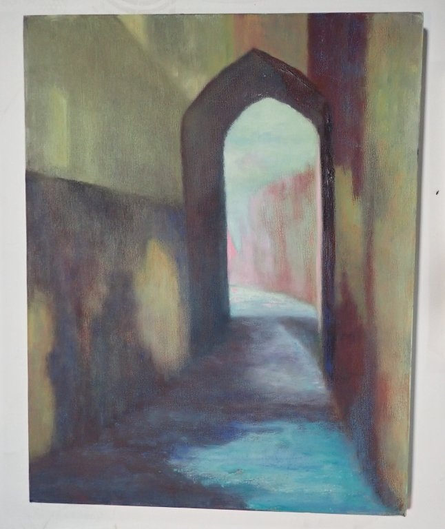 Grouping of Artist Signed Unframed Paintings - 9
