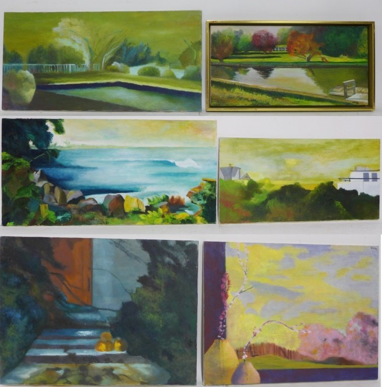 Landscape Panorama Paintings, Artist Signed