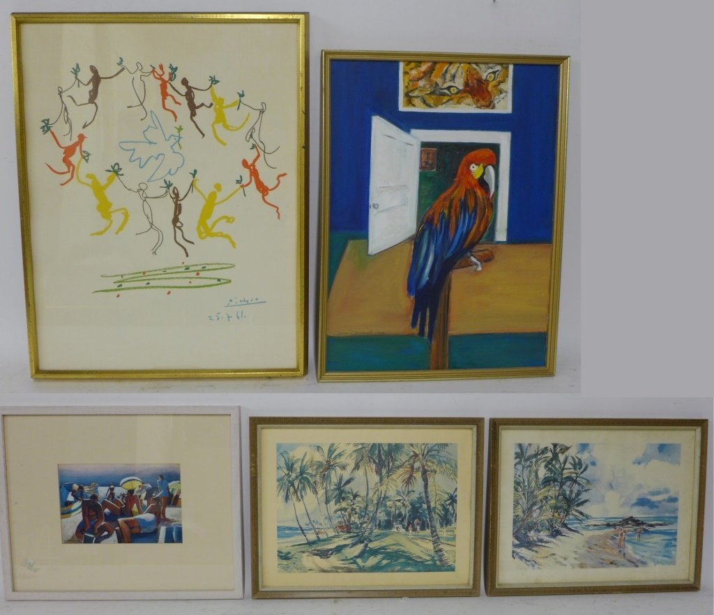 Eclectic Mix of Art Work