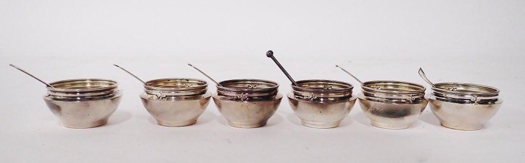 Set of 6 Gorham Sterling Silver Salt Cellars