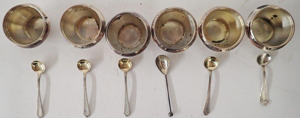 Set of 6 Gorham Sterling Silver Salt Cellars - 2