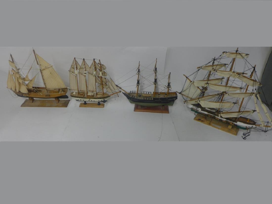 Assorted Multi Mast Model Ships
