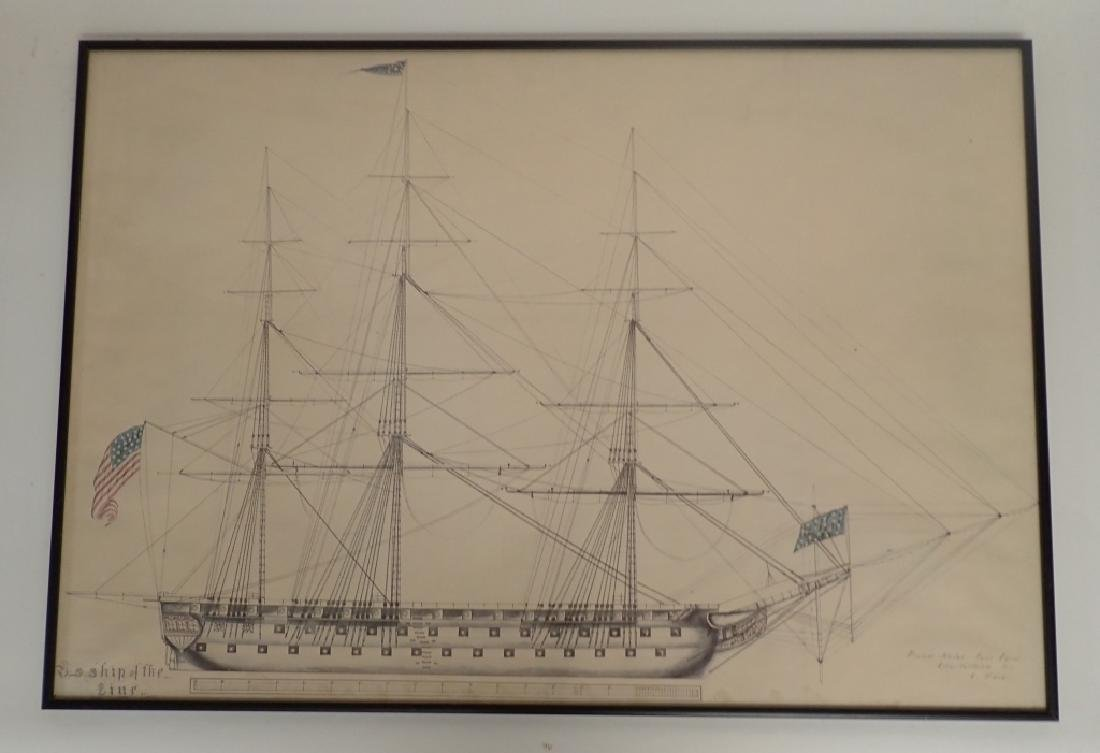 Two Framed Nautical Ship Prints - 2