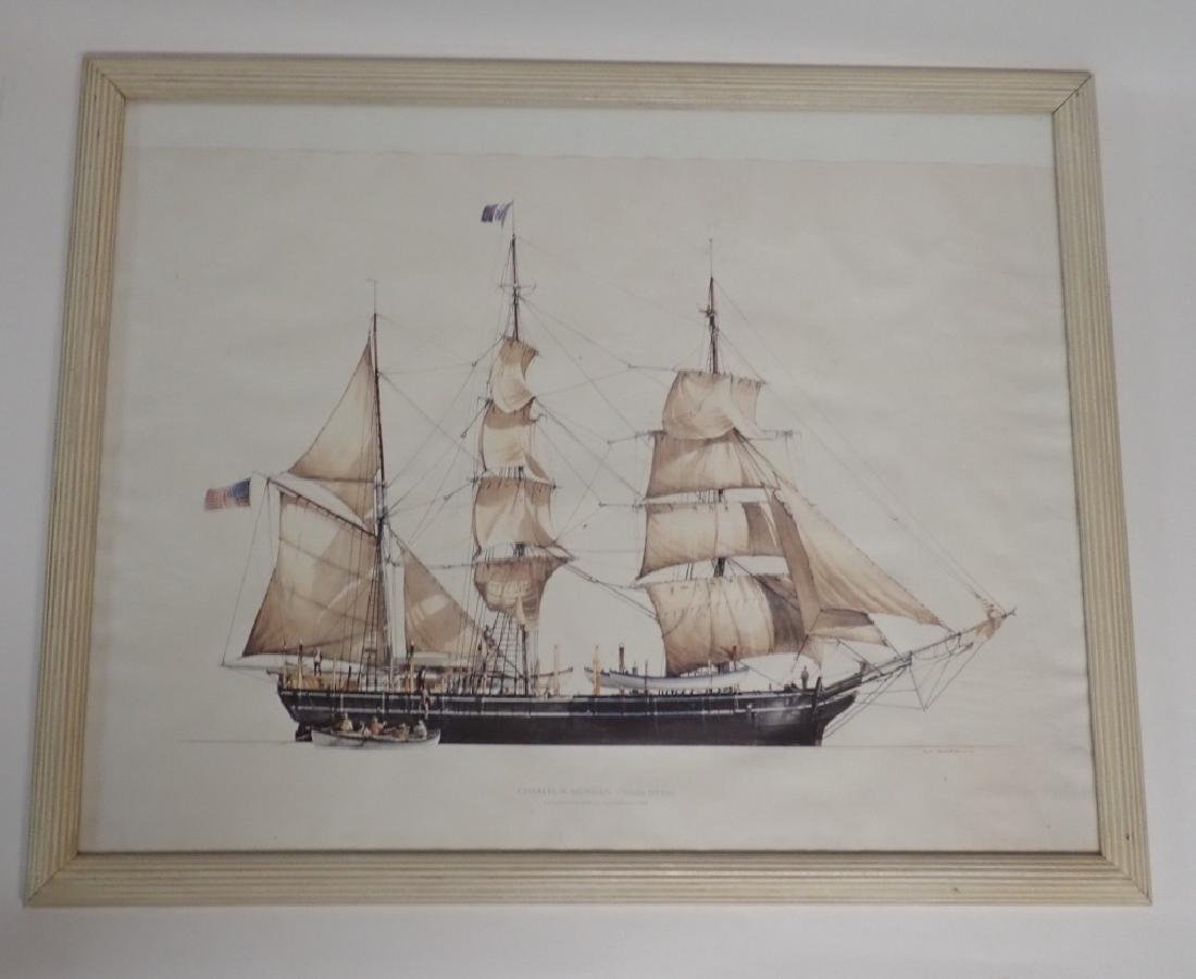 Two Framed Nautical Ship Prints - 6