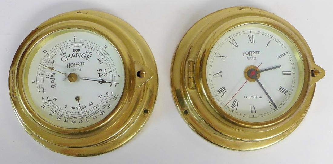 Vintage Hoffritz Ship Clock and Barometer