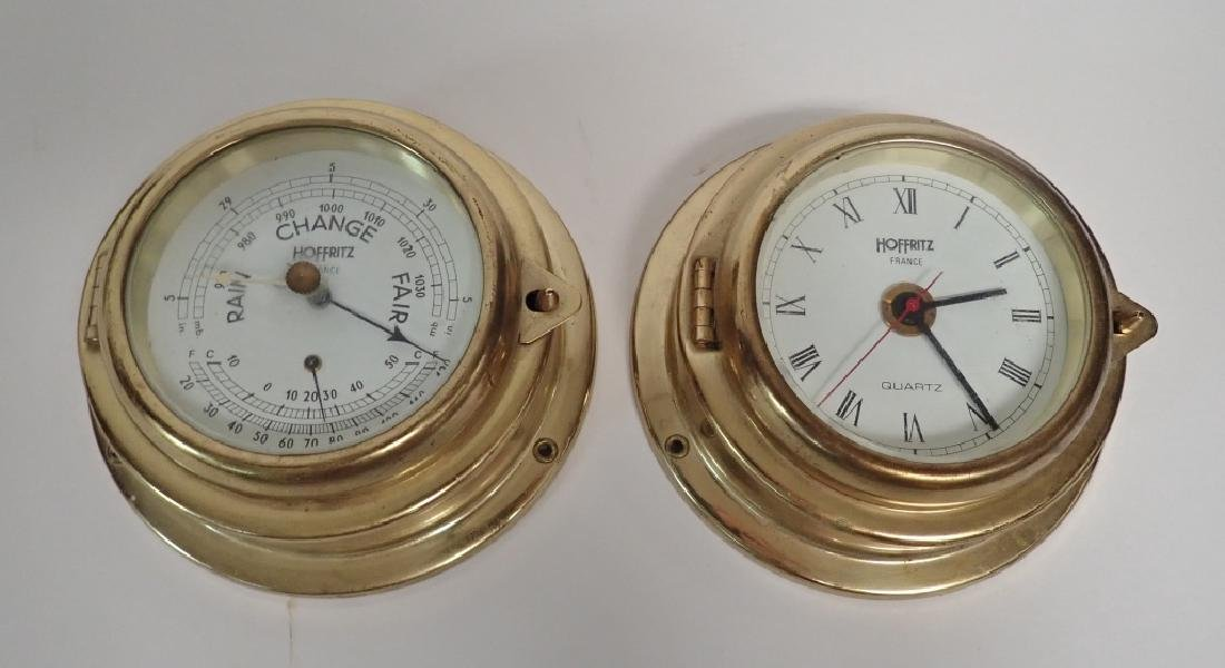 Vintage Hoffritz Ship Clock and Barometer - 9
