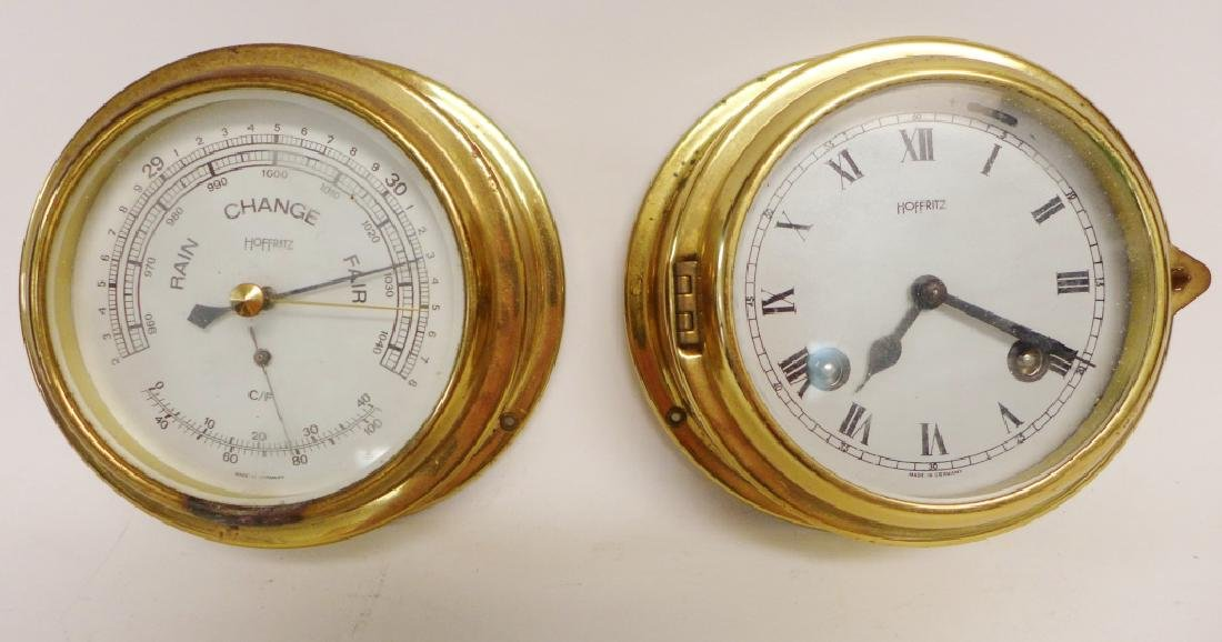 Hoffritz Ship Clock with Alarm and Barometer