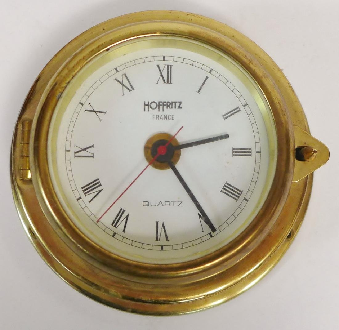 Hoffritz Ship Clock with Alarm and Barometer - 2