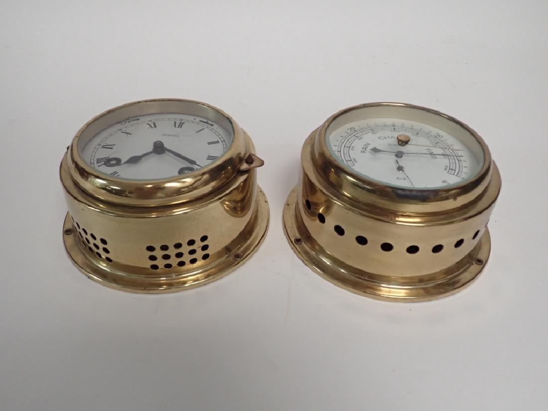 Hoffritz Ship Clock with Alarm and Barometer - 9