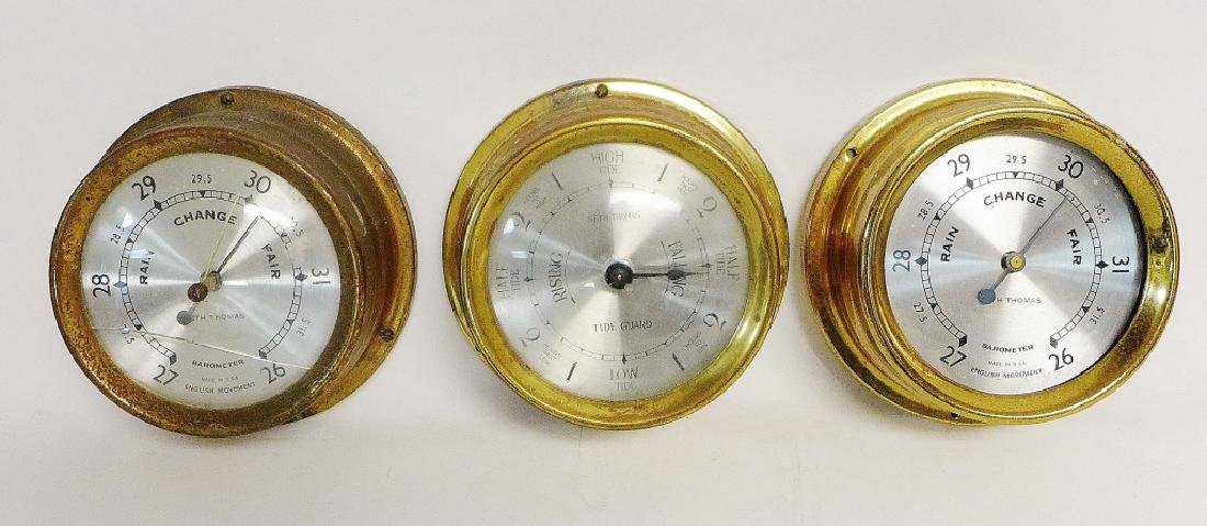 Vintage Brass Seth Thomas Nautical Dials