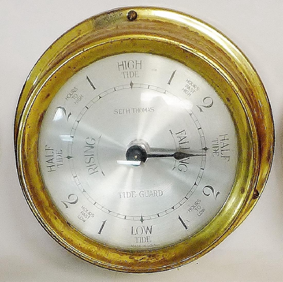 Vintage Brass Seth Thomas Nautical Dials - 2