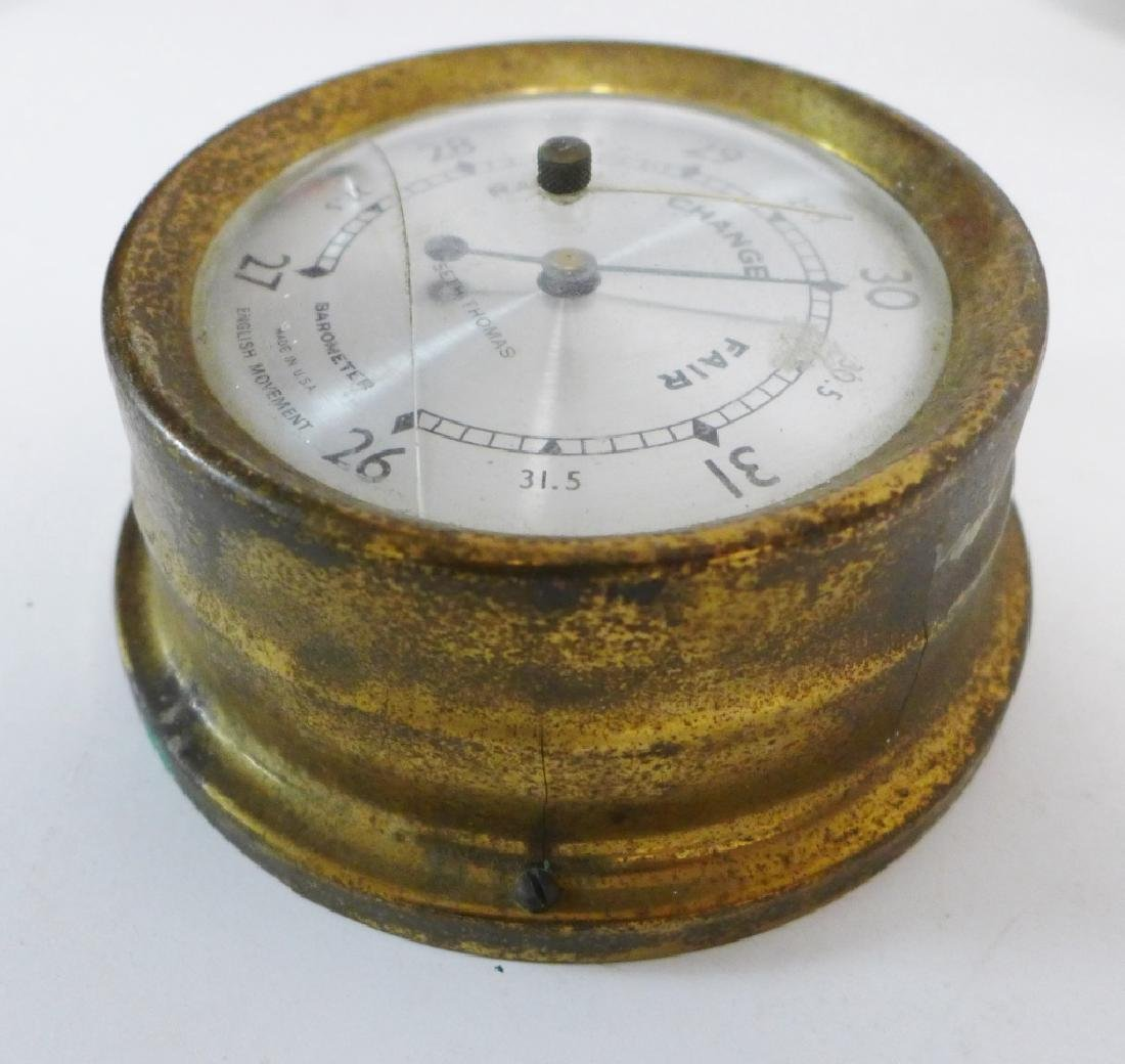 Vintage Brass Seth Thomas Nautical Dials - 6