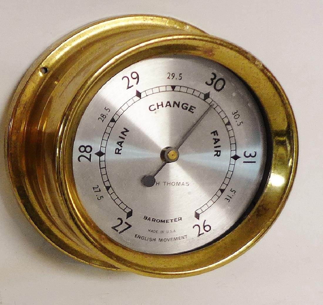 Vintage Brass Seth Thomas Nautical Dials - 8