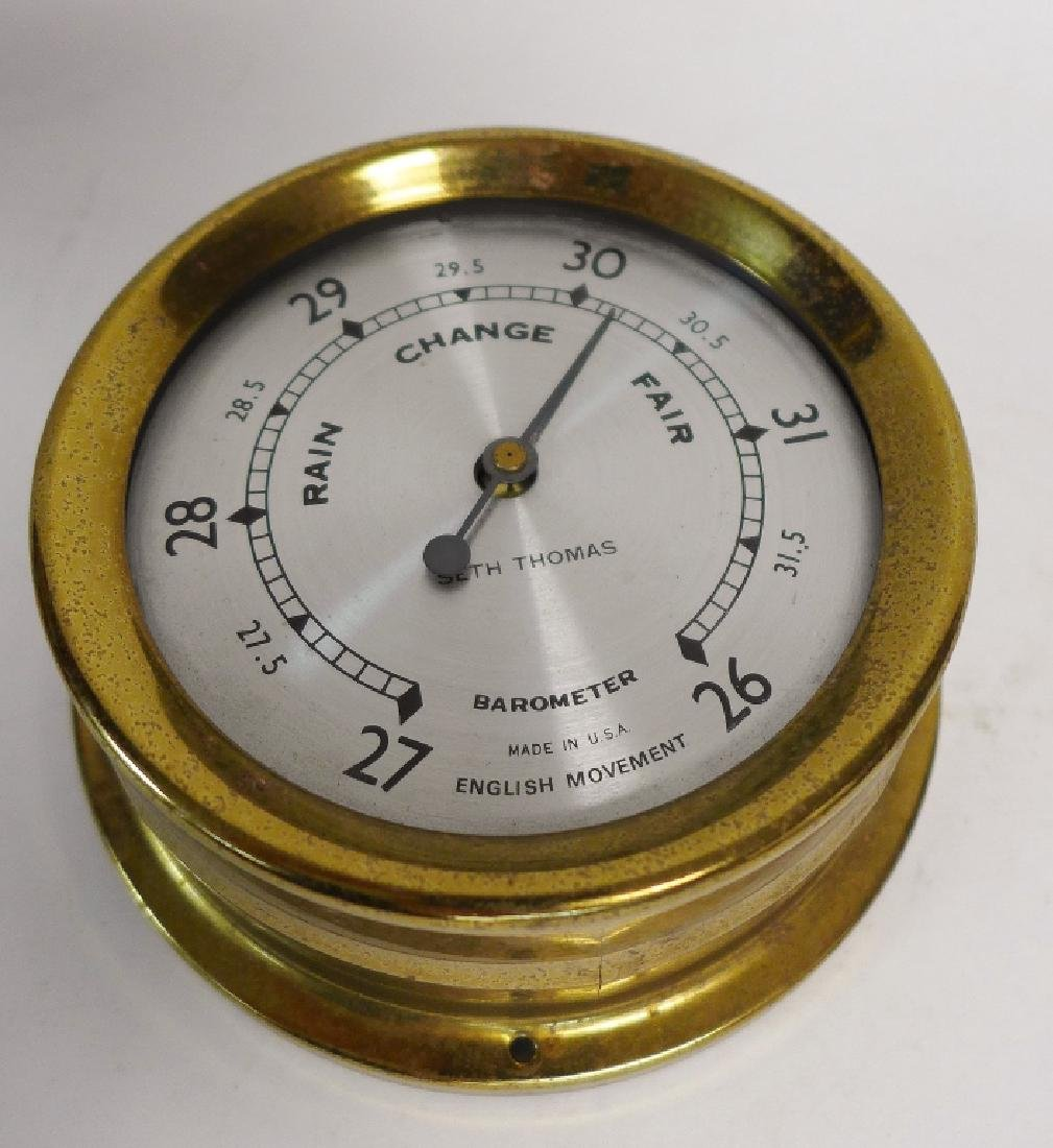 Vintage Brass Seth Thomas Nautical Dials - 9
