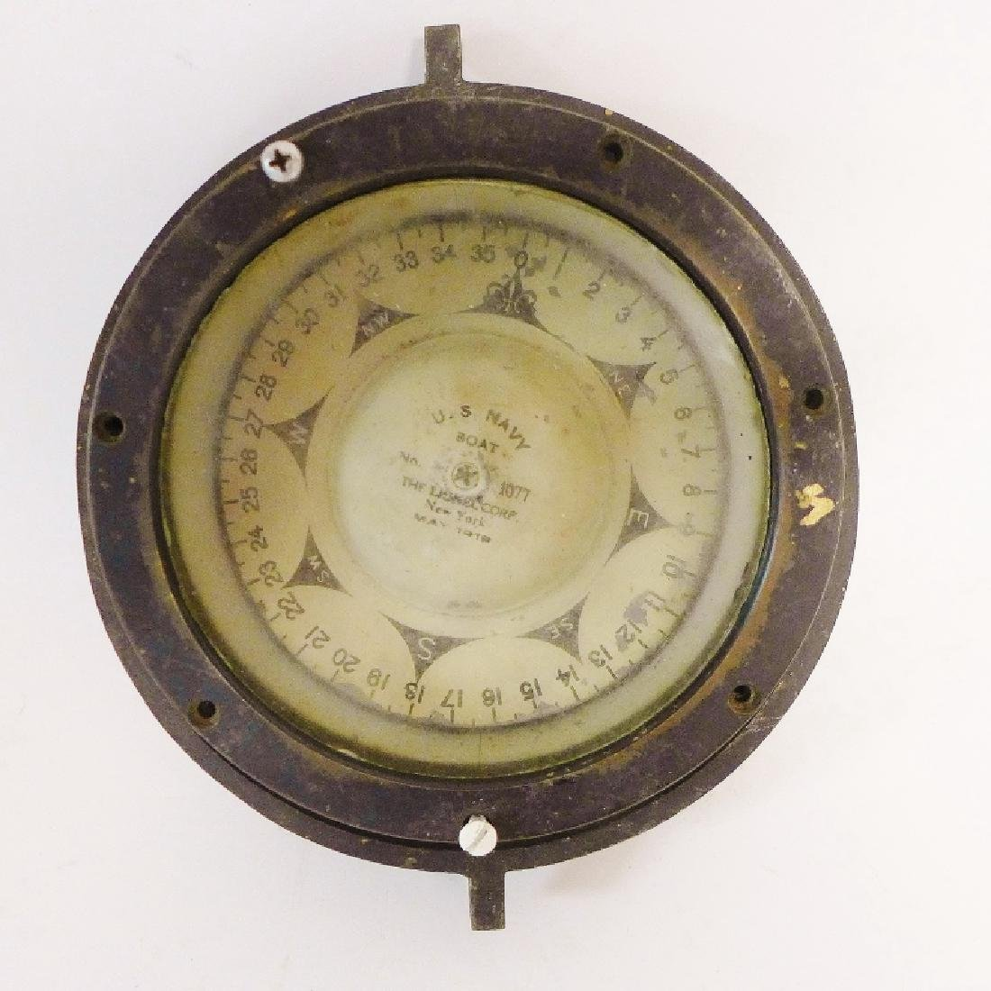 Antique Lionel US Navy Boat Compass 1919
