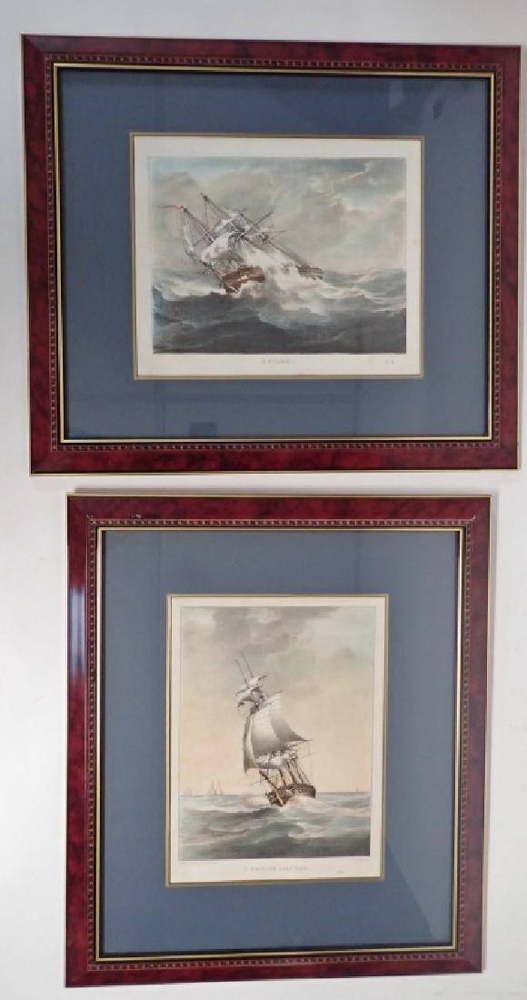 Pair of Framed Vintage Ship Prints