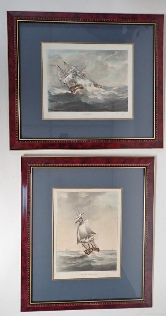 Pair of Framed Vintage Ship Prints