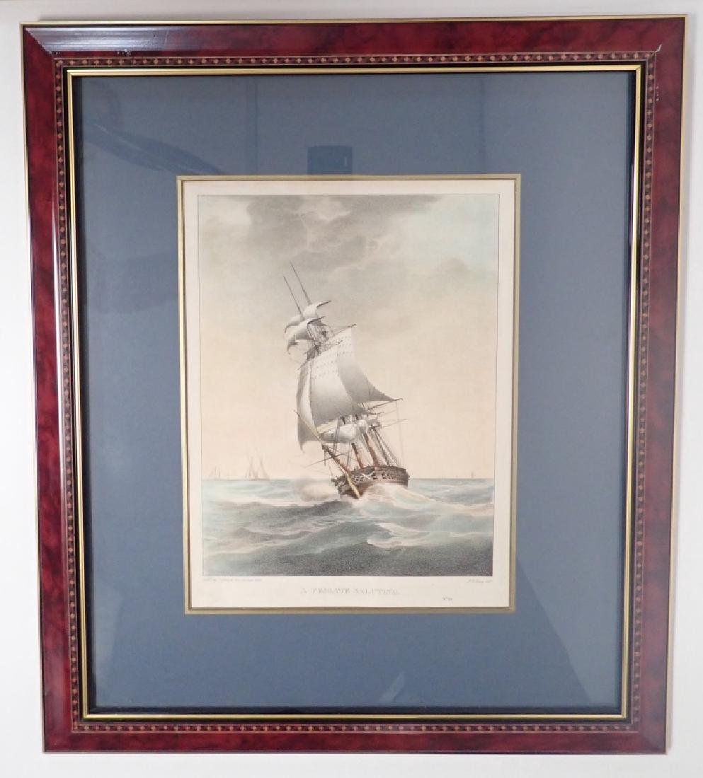 Pair of Framed Vintage Ship Prints - 2