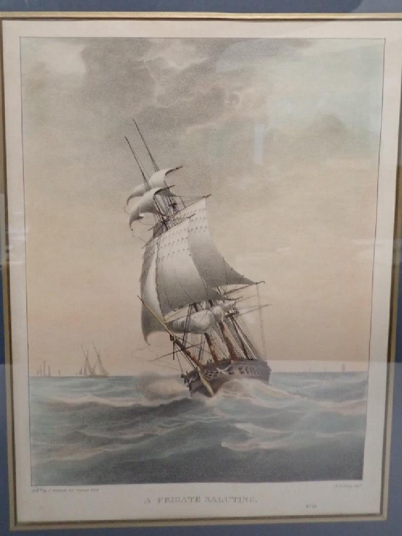 Pair of Framed Vintage Ship Prints - 3