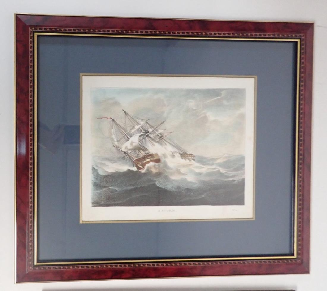 Pair of Framed Vintage Ship Prints - 5