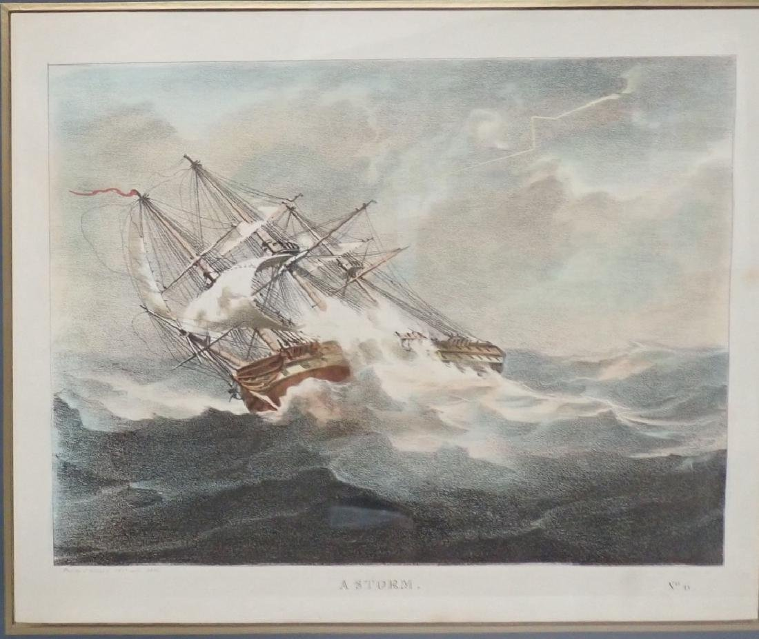 Pair of Framed Vintage Ship Prints - 6
